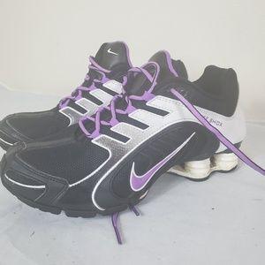Nike Womens Shox Black Purple Size 8.5